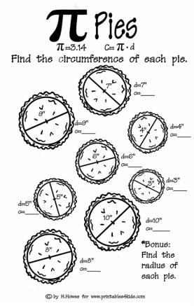 Math Worksheets pi math worksheets : Pi Day! 3.14 - The Art of Math